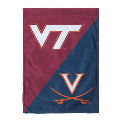 Virginia Tech-Virginia House Divided Garden Flag