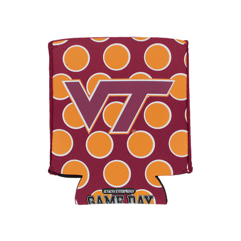 Virginia Tech Polka Dot Folding Can Cooler