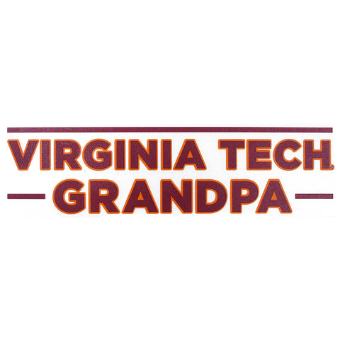 Virginia Tech Grandpa Decal