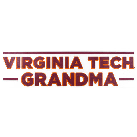 Virginia Tech Grandma Decal