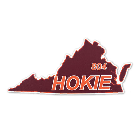 Virginia Tech 804 Hokie State Decal