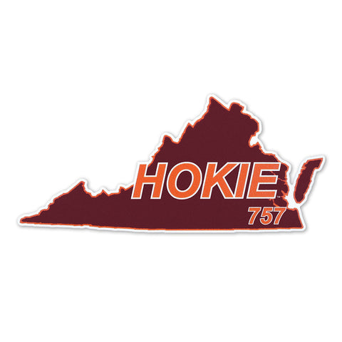 Virginia Tech 757 Hokie State Decal