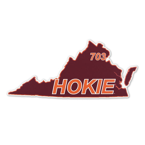 Virginia Tech 703 Hokie State Decal