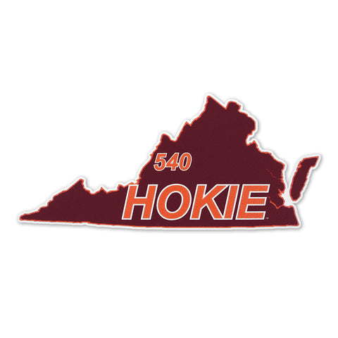 Virginia Tech 540 Hokie State Decal
