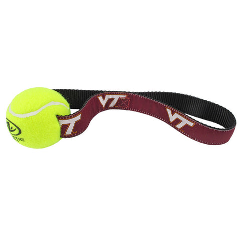 Virginia Tech Tennis Ball Dog Toy