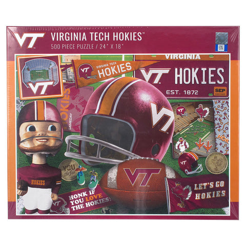 Virginia Tech Retro Series 500 Piece Puzzle