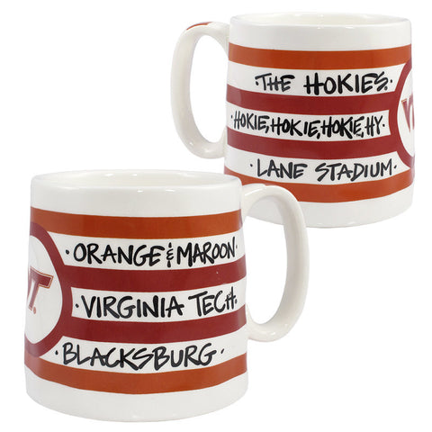 Virginia Tech Striped Ceramic Mug