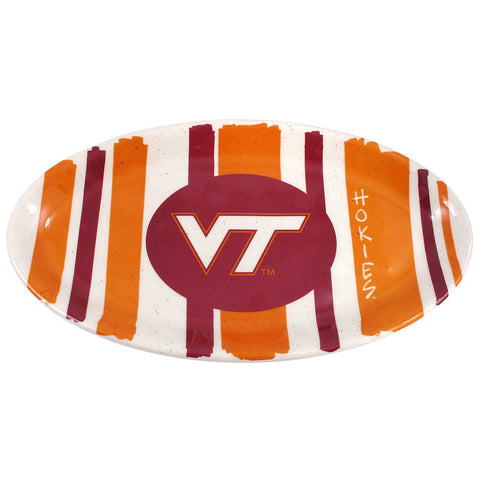 Virginia Tech Striped Melamine Platter