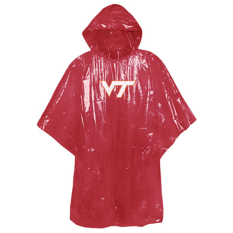 Virginia Tech Hooded Rain Poncho: Maroon