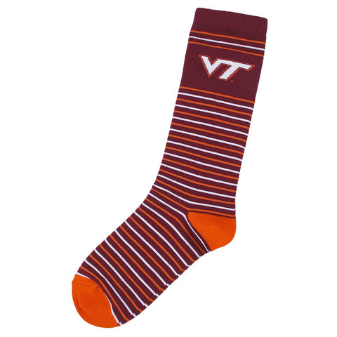Virginia Tech Striped Dress Socks