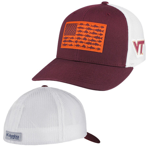 Virginia Tech PFG Fish Flag Mesh Hat by Columbia