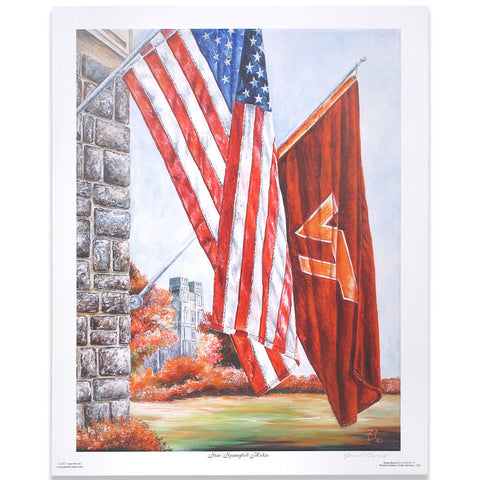 "Virginia Tech ""Star Spangled Hokie"" Print by Jane Blevins"