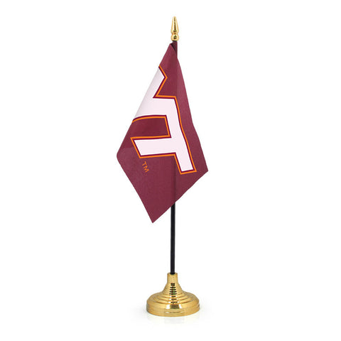 Virginia Tech Desk Flag