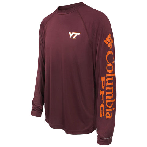 Virginia Tech Men's Terminal Tackle Long-Sleeved T-Shirt by Columbia