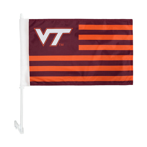 Virginia Tech Hokie Nation Car Flag