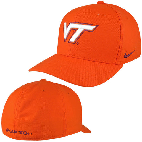 Virginia Tech Classic Swoosh Flex Hat: Orange by Nike