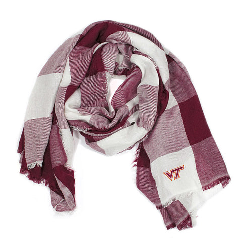 Virginia Tech Buffalo Check Scarf