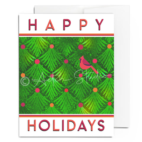 Cardinal Happy Holidays Card