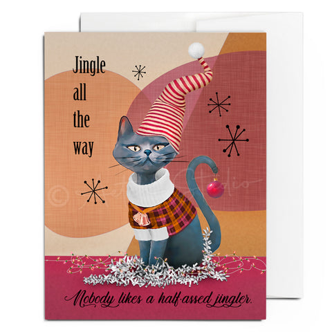 Jingle Cat Card