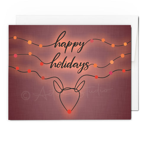 Rudolph Happy Holidays Card