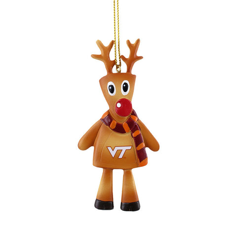 Virginia Tech Reindeer Cookie Ornament