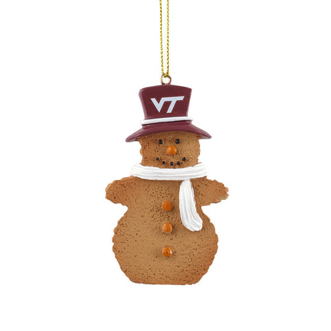 Virginia Tech Snowman Cookie Ornament