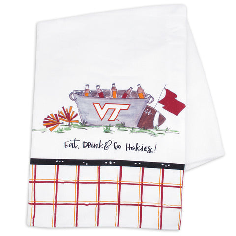 Virginia Tech Eat, Drink Dish Towel