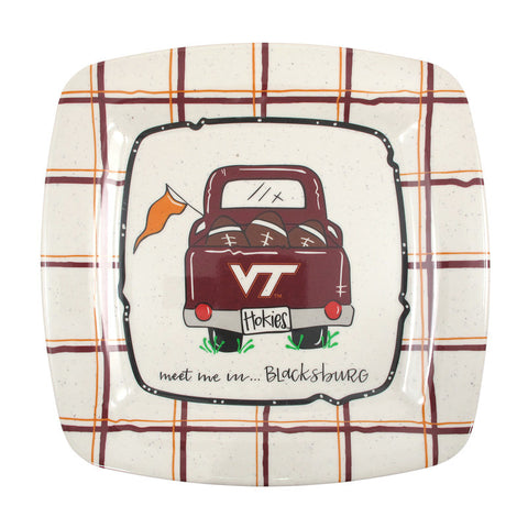 Virginia Tech Truck Square Melamine Plate