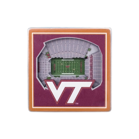 Virginia Tech 3-D Stadium Magnet