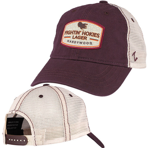 Virginia Tech Fightin Hokies Lager Label Mesh Hat by Zephyr