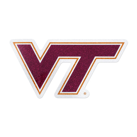 Virginia Tech Logo Glitter Decal