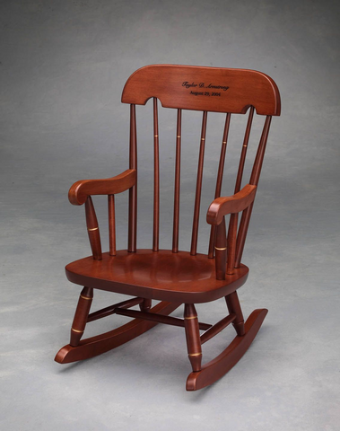 Virginia Tech Child's Rocking Chair with Cherry Finish: FREE GROUND SHIPPING!
