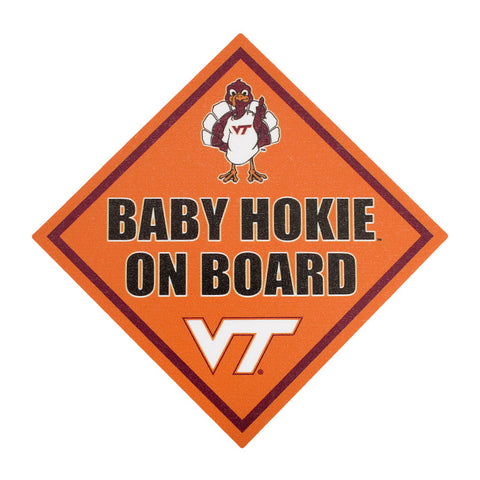 "Virginia Tech ""Baby Hokie On Board"" Decal"