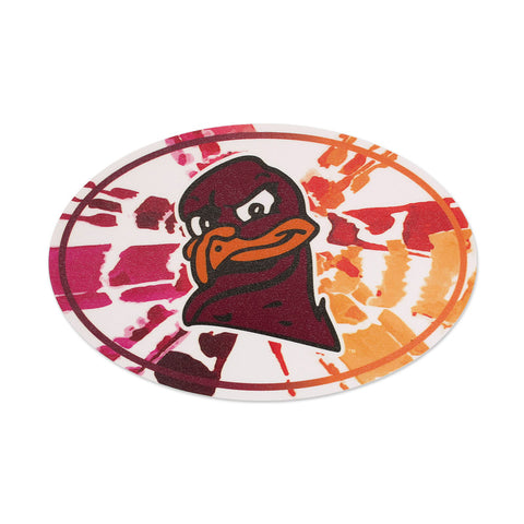 Virginia Tech Hokie Bird Tie-Dye Decal