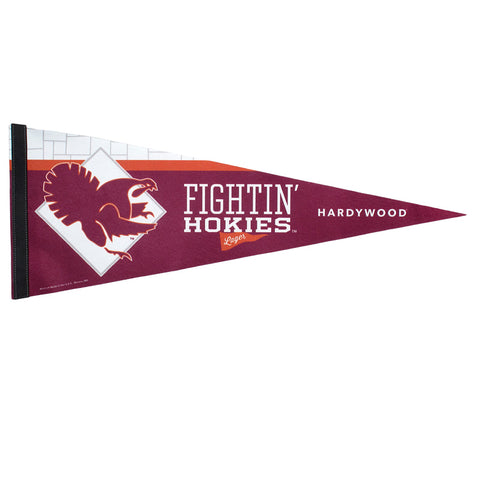 Virginia Tech Fightin Hokies Lager Felt Pennant