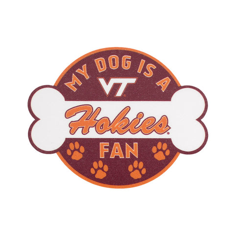 "Virginia Tech ""My Dog is a Hokies Fan"" Decal"