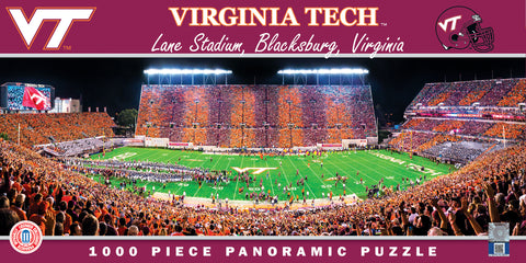 Virginia Tech Panoramic Striped Lane Stadium 1000 Piece Puzzle