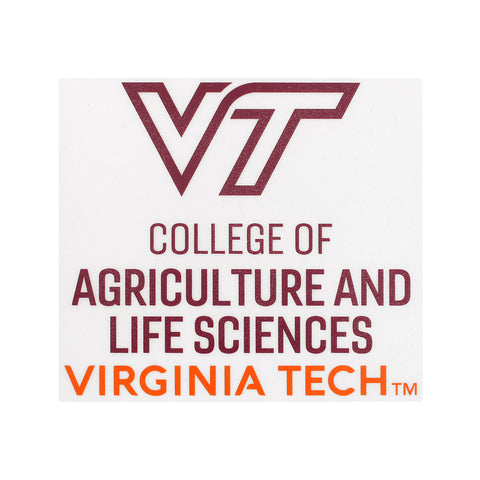 Virginia Tech College of Agriculture and Life Sciences Decal