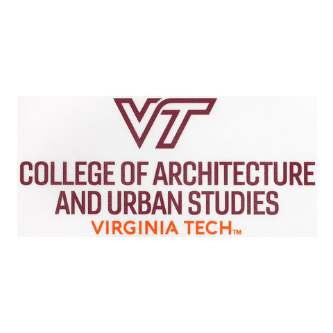 Virginia Tech College of Architecture and Urban Studies Decal
