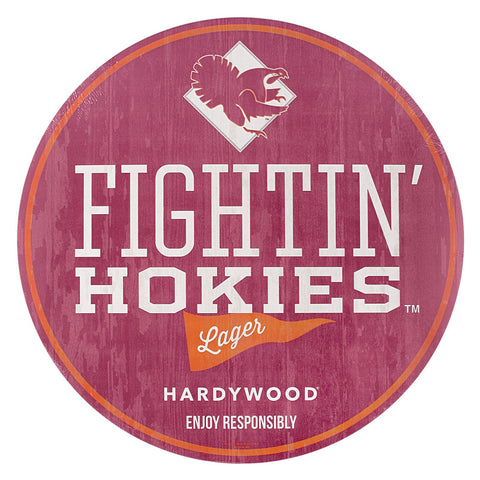 Virginia Tech Fightin' Hokies Lager Wooden Sign