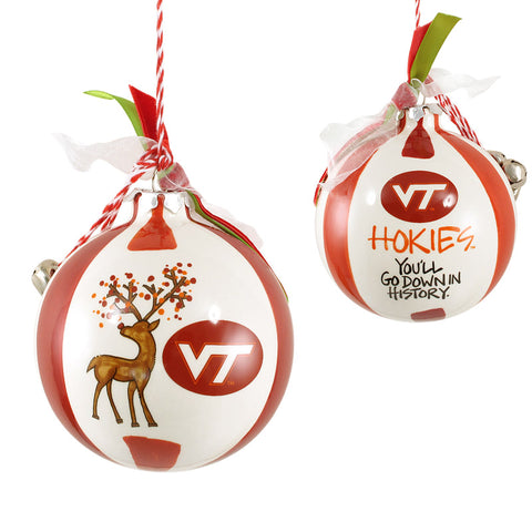 Virginia Tech Hokies Reindeer Ornament