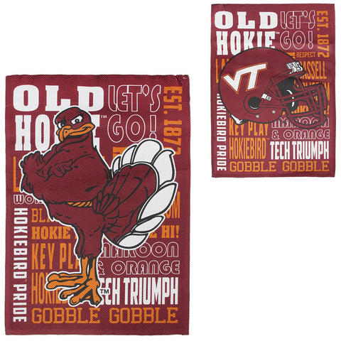 Virginia Tech Fan Rules Garden Flag