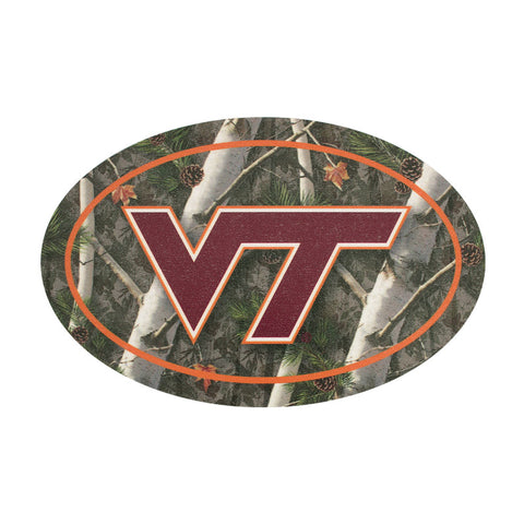 Virginia Tech Logo Camo Decal