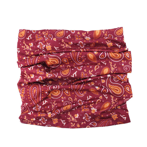 Virginia Tech Paisley Neck Gaiter