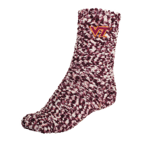 Virginia Tech Fuzzy Marled Socks