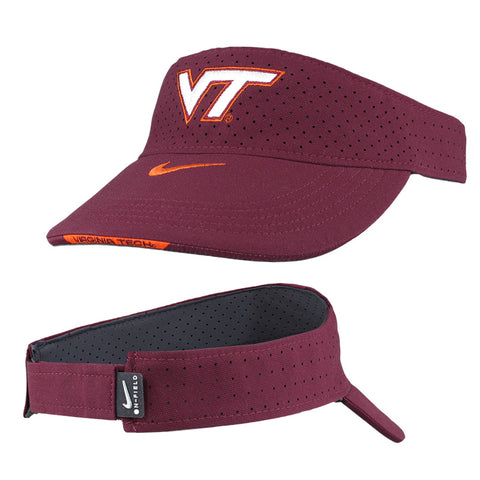 Virginia Tech Aero Visor: Maroon by Nike