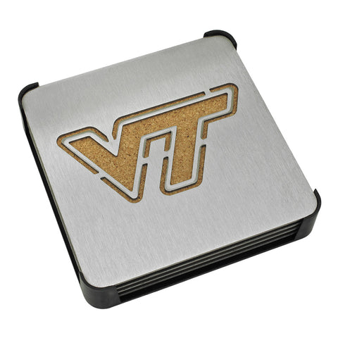 Virginia Tech Stainless Steel Coaster Set