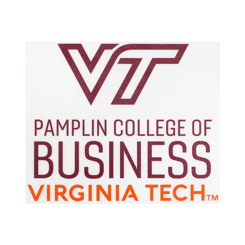 Virginia Tech Pamplin College of Business Decal