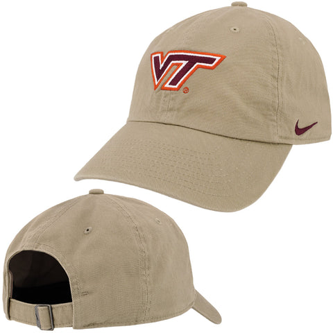 Virginia Tech Heritage 86 Logo Hat: Khaki by Nike
