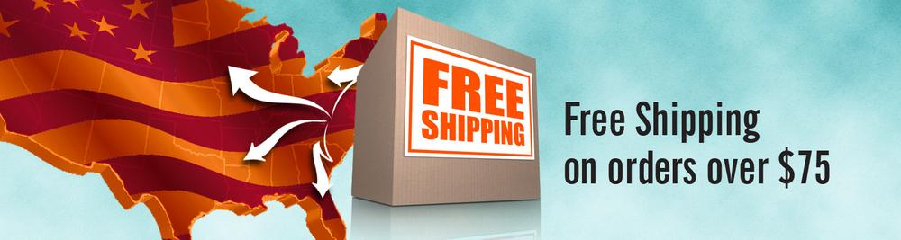 Free shipping on orders with subtotals over $75!